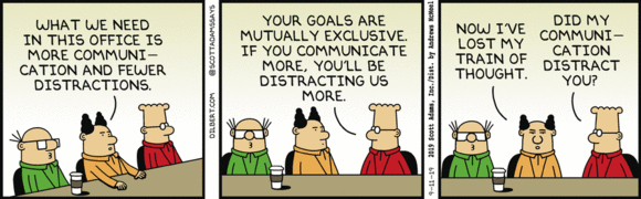 Dilbert Calls Out Distracting Communication